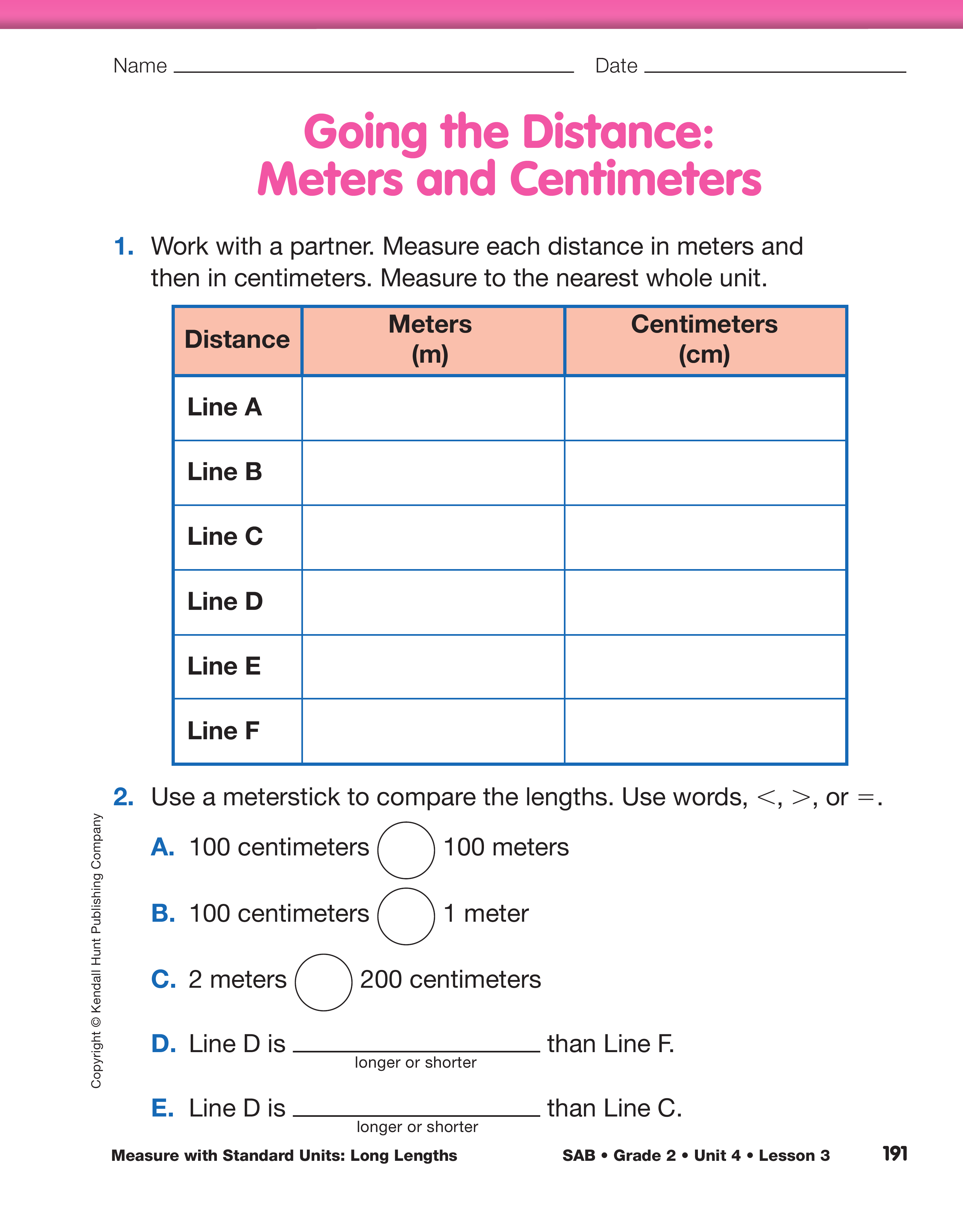 worksheet Measuring With Centimeters math trailblazers sg mini